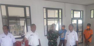 Kunjungan ke Posko Utama bertempat di Lingkungan Setda Kab. Lembata, Rabu 01 April 2020 (Foto: Dokumen Diskominfo Kab. Lembata)